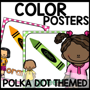 Color Posters (Polka Dot Themed Turquoise, lime green, pin