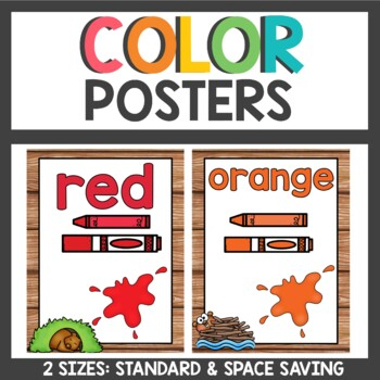 Color Posters Woodland Animals