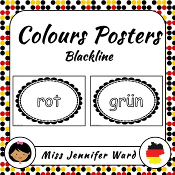 Color Posters in German (Blackline)
