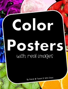Color Posters {using real photographs}