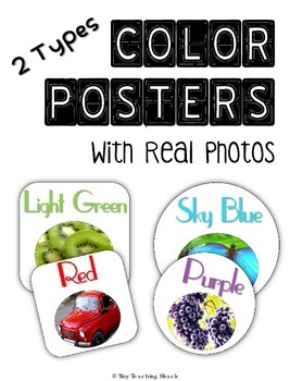 Color Posters with Real Pictures