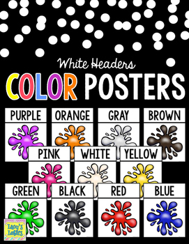 Color Posters with White Headers