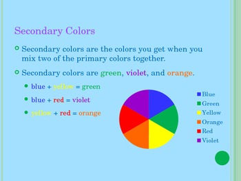 Color Power Point- Element of Art- Color