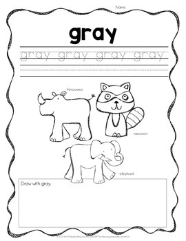 Color Practice Pages