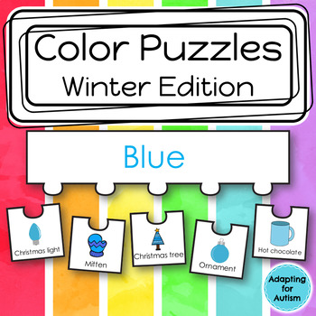Color Puzzles Work Task: Winter Season (adapted with 3 levels)