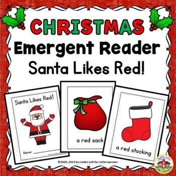 Christmas Emergent Reader Santa Likes Red