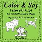 Color & Say: Velars /k/ & /g/ (articulation practice)