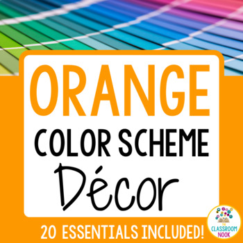 Color Scheme Decor Pack: The Orange Collection