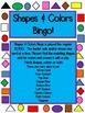 Color & Shape Bingo Common Core