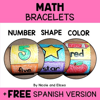 Basic Math Crafts for Colors Numbers and Shapes