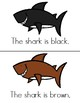 Color Sharks Guided Reading Book- Printable- Color and Bla