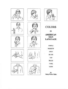 Color Signs in American Sign Language