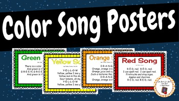 Color Song Posters