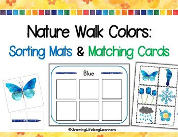 Colors: Sorting Mats and Matching Cards, Nature Walk Themed