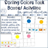 Color Sorting Task Box/ Independent Work Activity #tptmarc