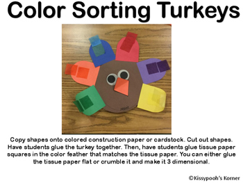 Color Sorting Turkey Feathers