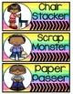 Color Splash Classroom Jobs (Editable)