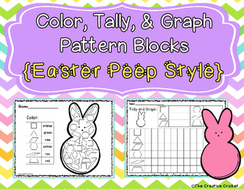 Color, Tally, and Graph Pattern Blocks - Easter Peep Style!