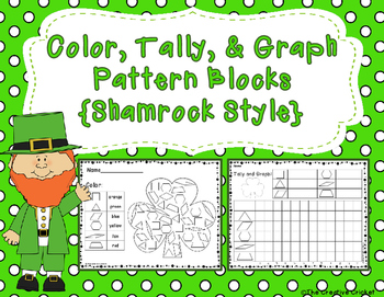 Color, Tally, and Graph Pattern Blocks - Shamrock/St. Patr