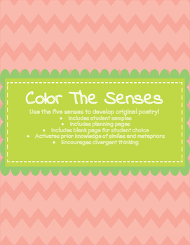 Color The Senses: Using Sensory Details, Metaphors, & Simi