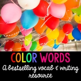 Color Themed Word Cards and Word Walls in English and Spanish