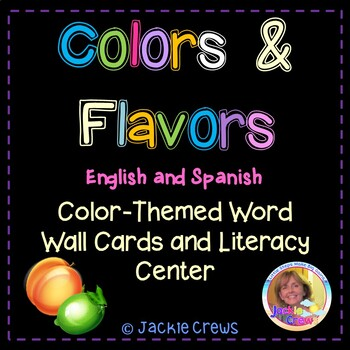 Color Themed Word Wall Cards: Colors, Fruits and Flavors i