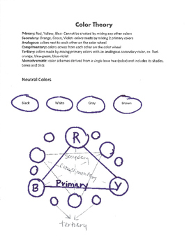 Color Theory Art Activity Worksheet