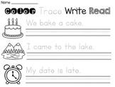 Long Vowels Sentence Writing Practice Worksheets