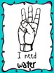 Color Version Hand Signals for Classroom Management