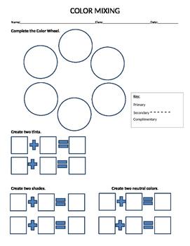 Color Wheel Assessment