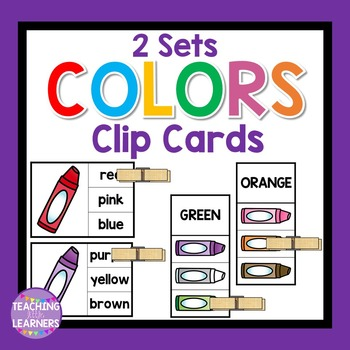 Color Word Clip Cards