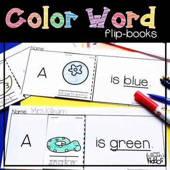 Color Word Flip-Books
