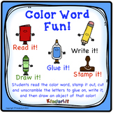 Color Word Fun!
