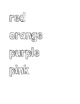Color Word Labels