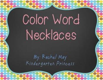 Color Word Necklaces (FREEBIE)