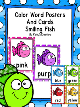Color Word Posters -Smiling Fish
