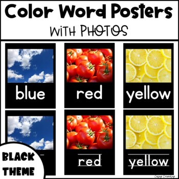 Color Word Posters with Real Photos Pictures Photographs B