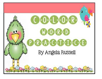 Color Word Practice #2