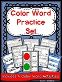 Color Word Practice Set {4 Color Word Activities Included