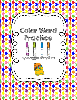 Color Word Trace, Copy, and Color