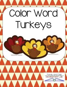 Color Word Turkeys