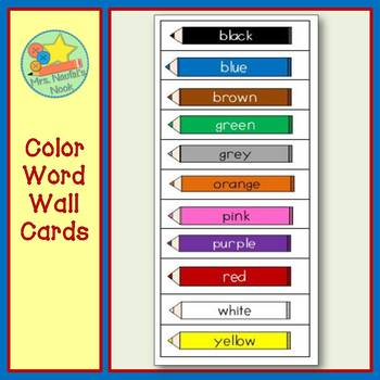 Color Word Wall Words