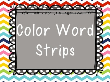 Color Word Writing Strip