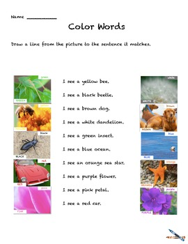 Color Words Activities preK-1   Colors Worksheets Learn co