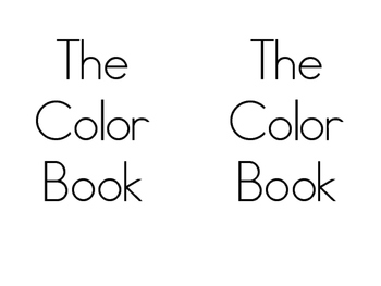Color Words Book