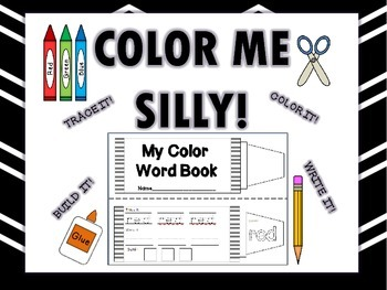 Color Words Booklet (Interactive Notebook Addition)