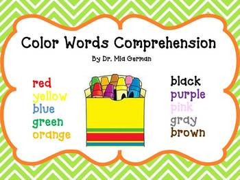 Color Words  Activities/Printables