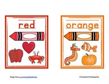 Color Words Display