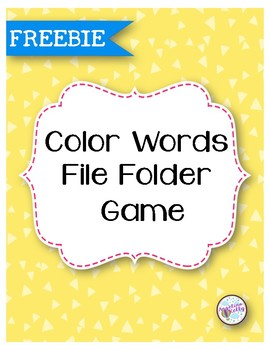 Color Words File Folder Game