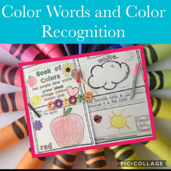Kindergarten Color Words: I Know My Colors for Pre-K-1